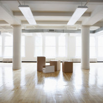Empty Room with boxes